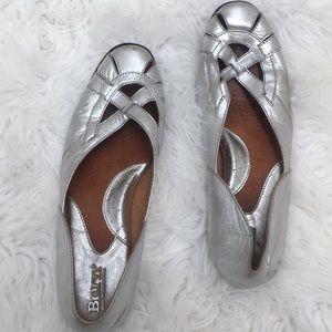 Born Silver slip on  flats